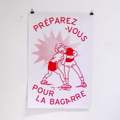 """Affiche """"Préparez-vous pour la bagarre"""""""